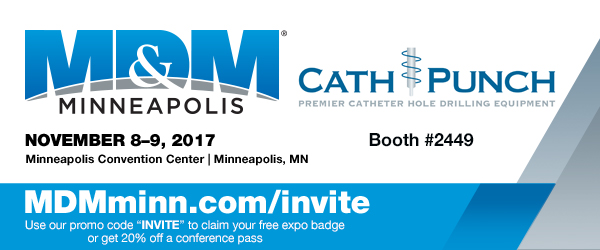 catheter hole drilling Cath-Punch at MD&M Minneapolis 2017